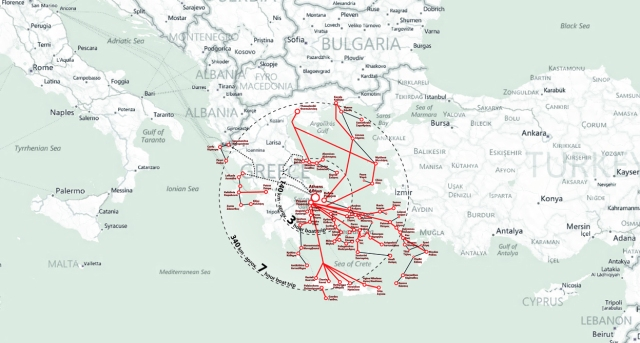 boat lines map