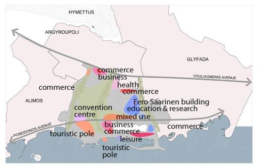 Ανάπτυξη μικτών χρήσεων σε όλη την έκταση και την παράκτια ζώνη.Mixed use development dispersed to the site and coast.